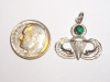 White Gold Master Jump wing Pendant with Emerald
