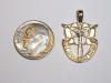Medium Yellow Gold SF Crest Pendant w/Diamond