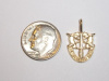 #17 Small Yellow Gold SF Crest Pendant