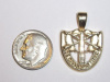 #19 Large Yellow Gold SF Crest Pendant