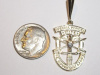 Yellow Gold SF Crest Pendant with Diamond
