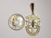 Yellow Gold SF Crest Pendant