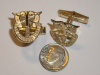 Medium Yellow Gold SF Crest Cuff Links