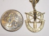 Yellow Gold Extra Large SF Crest Pendant
