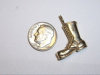 #55 Yellow Gold Jump Boot Pendant