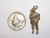 #61 Yellow Gold Airborne Soldier Pendant