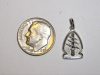 #49 Wht Gold Mini SF Shoulder Patch Pendant