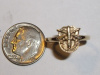 Yellow Gold SF Crest Pinky or Toe Ring