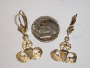 #46 Yel Gold Sm Master Jump Wing Dangle Earrings