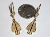 Yellow Gold USA SOC Dangle Earrings