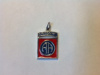 #84 Enameled Gold Airborne Medical Pendant