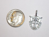 #16 Small White Gold SF Crest Pendant