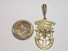 #22 Yellow Gold SF Crest Pendant