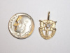 #23 Small Yellow Gold SF Crest Pendant w/Diamond