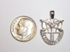 #24 Medium White Gold SF Crest Pendant
