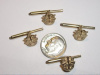 #30 Yellow Gold Mini SF Crest Shirt Studs