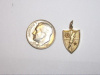#54 Yellow Gold Ranger Crest Pendant