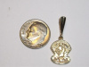 #59 Sm Yellow Gold Golden Knights Pendant