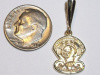 #60 Lg Yellow Gold Golden Knights Pendant