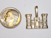 #63 Yellow Gold Engineer Castle Pendant