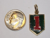 #64 Yellow Gold First Division With Enamel Pendant