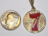 #65 Yellow Gold SF 7th Group Disc Pendant