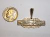 #75 Yellow Gold Combat Action Badge Pendant