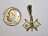 #76 Yellow Gold Signal Flag Pendant