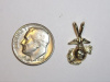 #77 Small Yellow Gold Marine Corps Pendant