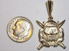 #78 Yellow Gold Combat Diver Pendant