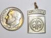 #83 Medium Yellow Gold 82nd Airborne Pendant