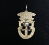 3 Tab SF Crest Pendant With Pearl